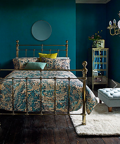 velvet cushions on bed Interiors