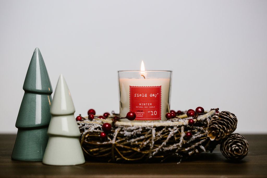 Black Friday Field Day Irish Christmas Candle