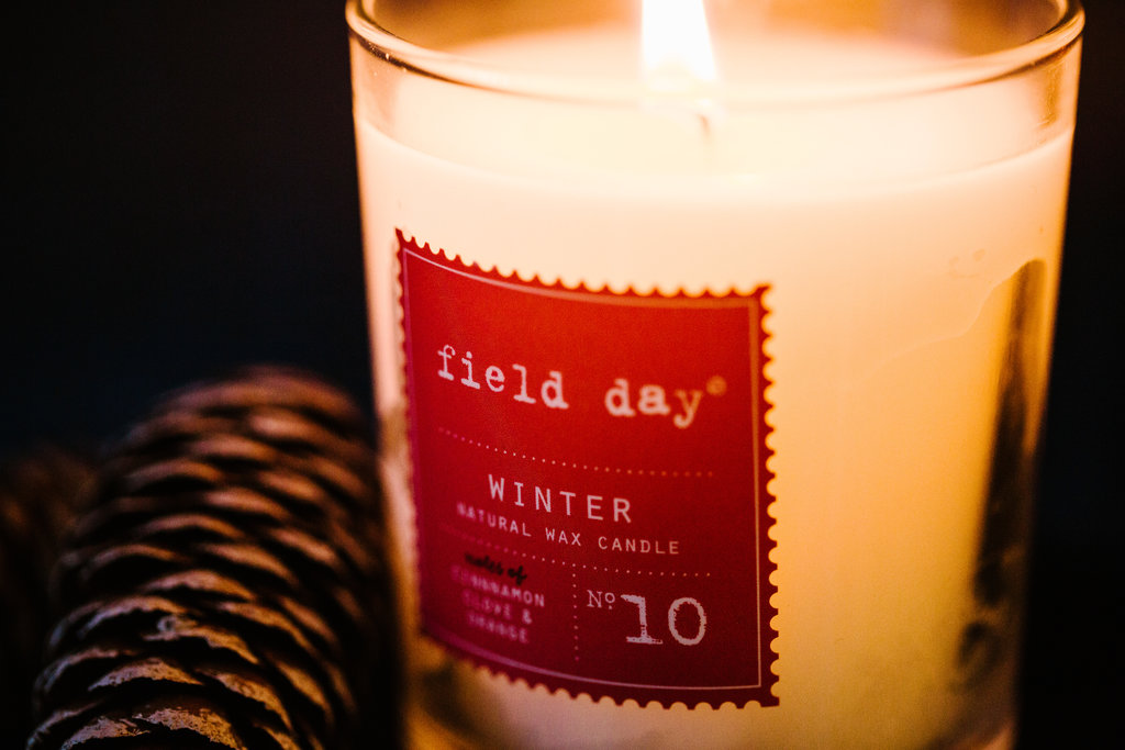 Black Friday Field Day Christmas Candle