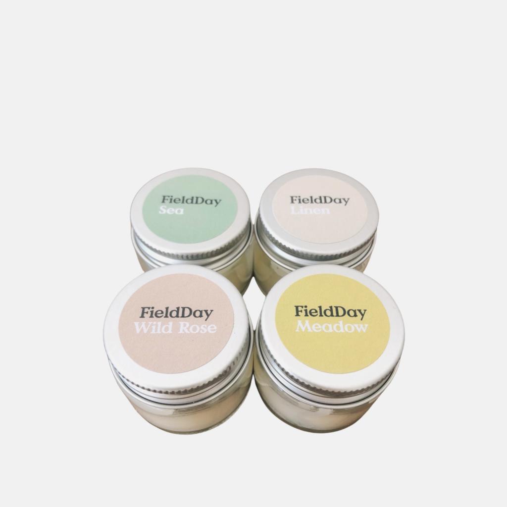 FieldDay Candle Quartet Lids
